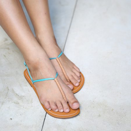 bags and sandals