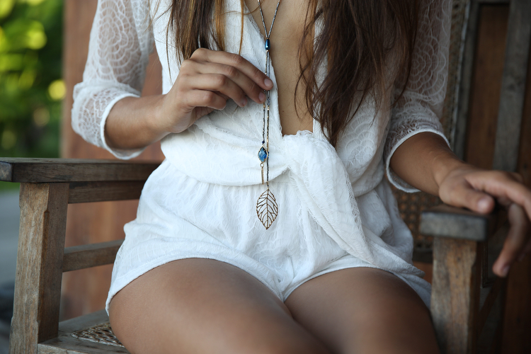 luxe fashion accessories   boho necklace
